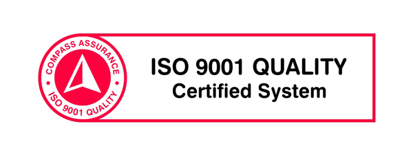 ISO 9001 long-Red-White-Black
